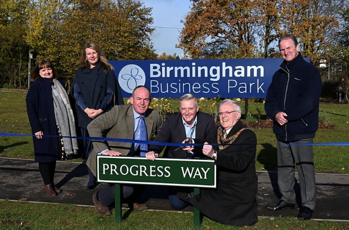 Opening of Progress Way by the Mayor of Solihull